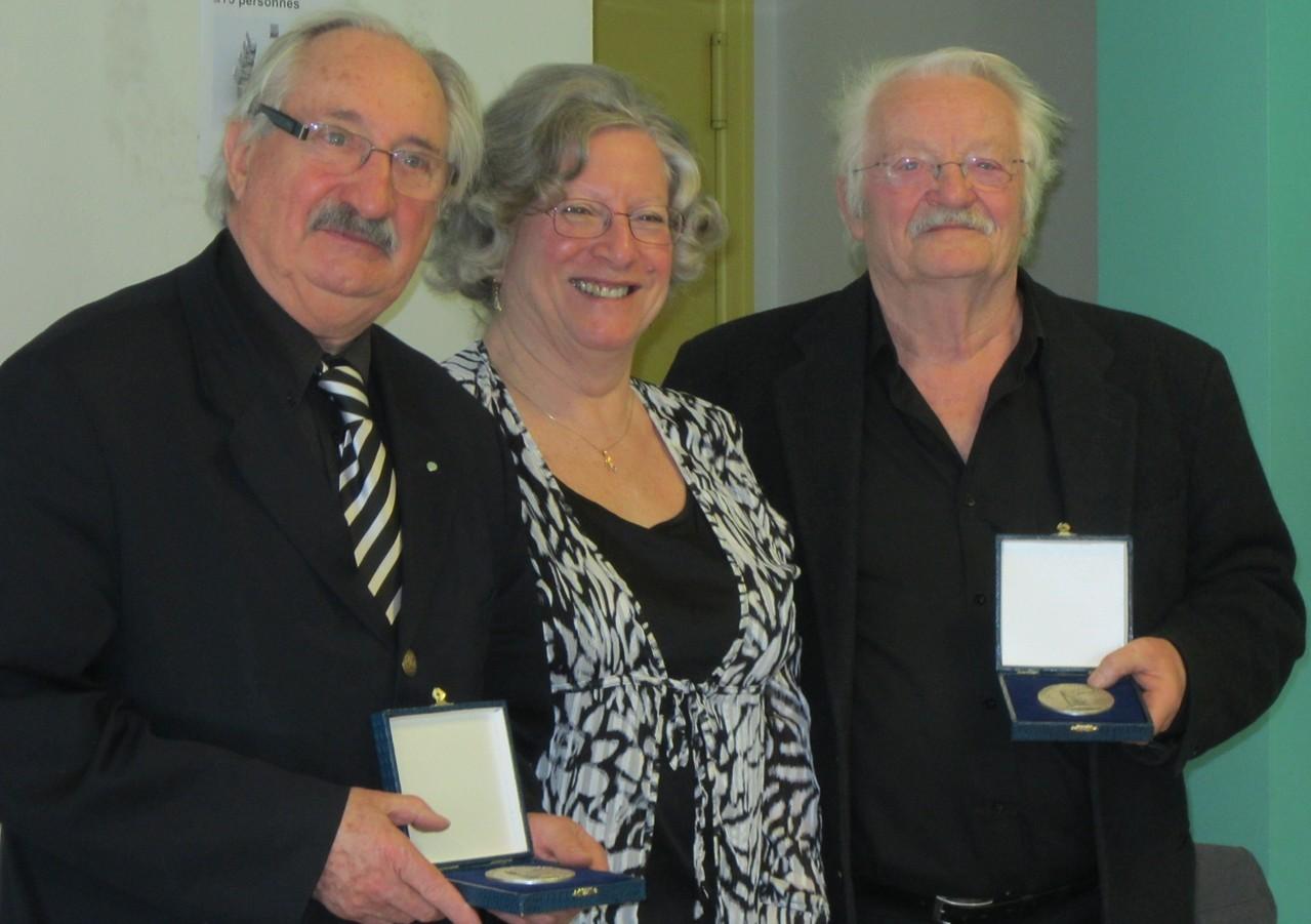 J.-M. Abattu et G. Morel Médailles d'honneur CDOTS