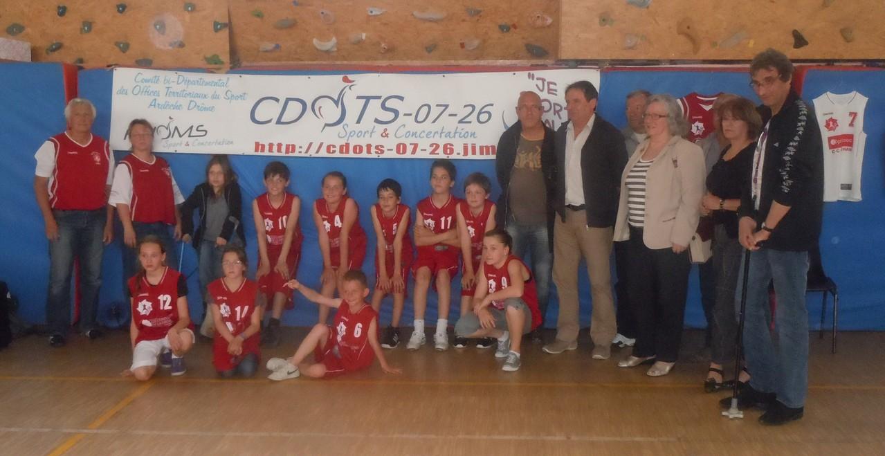La Roche de Glun 20120507 Equipe du Basket Club Rochelain