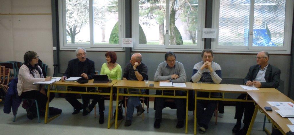 Marie-Claire ARBUES, Jean-Marc ABATTU, Ginette DESPEISSE, Florent MONZONIS, Laurent RAGEAU, William BLACHE et André COQUELET.