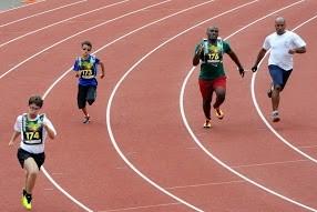 Athlétisme au stade Pompidou.