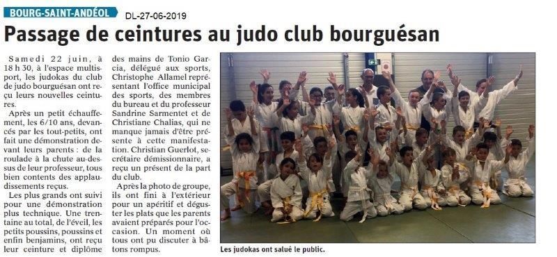 Dauphiné Libéré du 27-06-2019- Judo club bourguésan