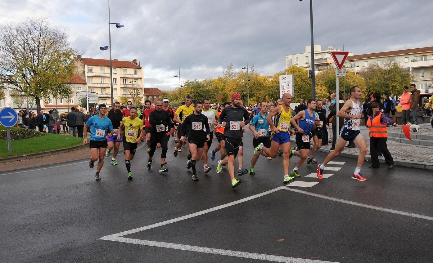 Portes-lès-Valence c'est parti pour le 17,100 km