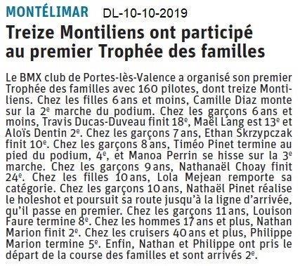 Dauphiné libéré du 11-10-2019- BMX Portois