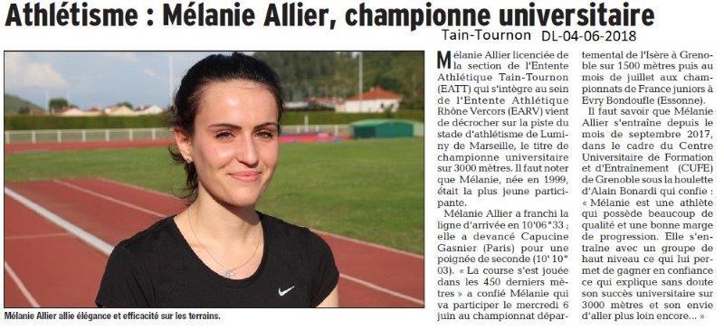 Dauphiné Libéré du 04-06-2018-Athlétisme à Tain-Tournon