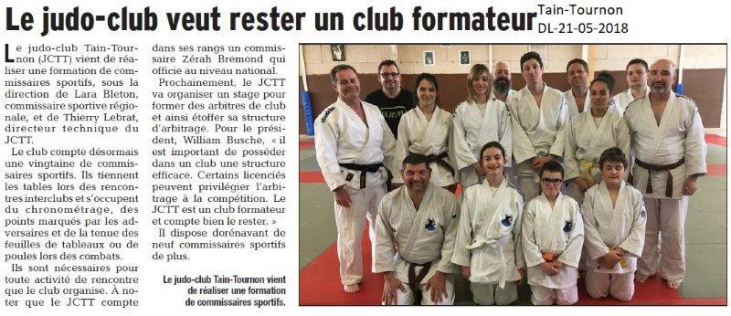 Dauphiné Libéré du 21-05-2018- Judo Tain-Tournon