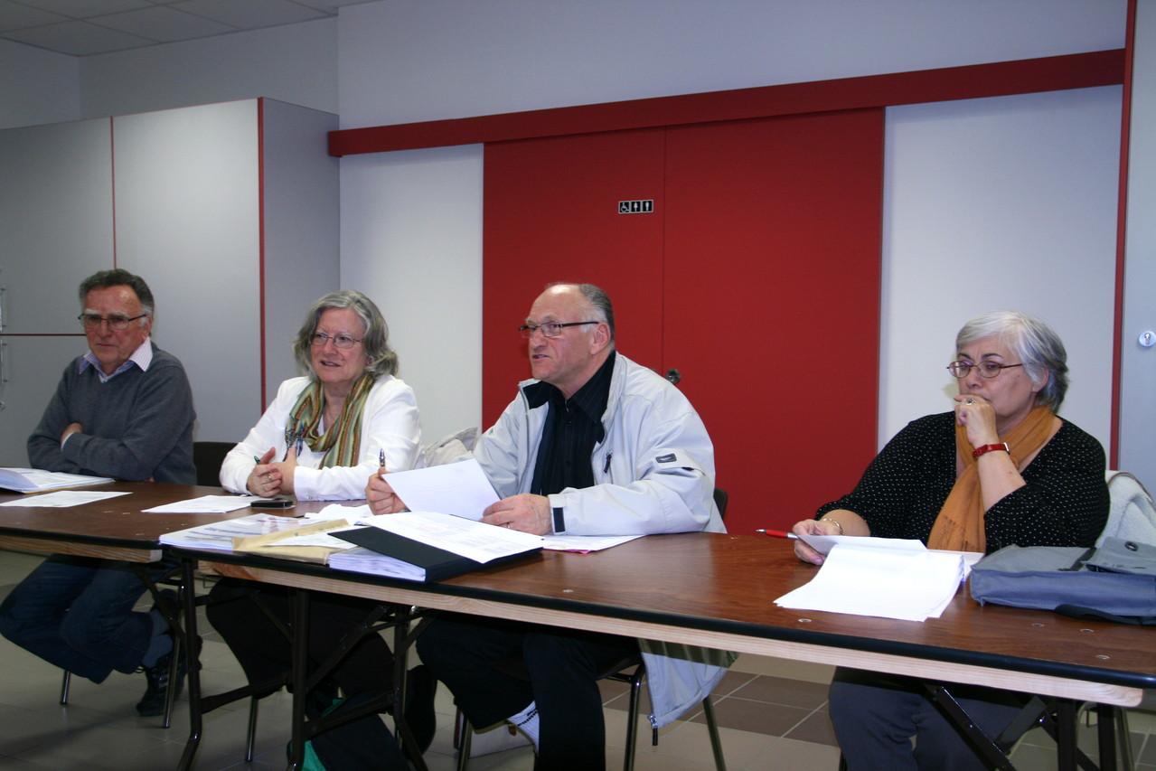 AG OMS Guilherand-Granges 07-02-2013 M.M Riou et Coquelet Mme Saint-Clair et Mme Chosson.