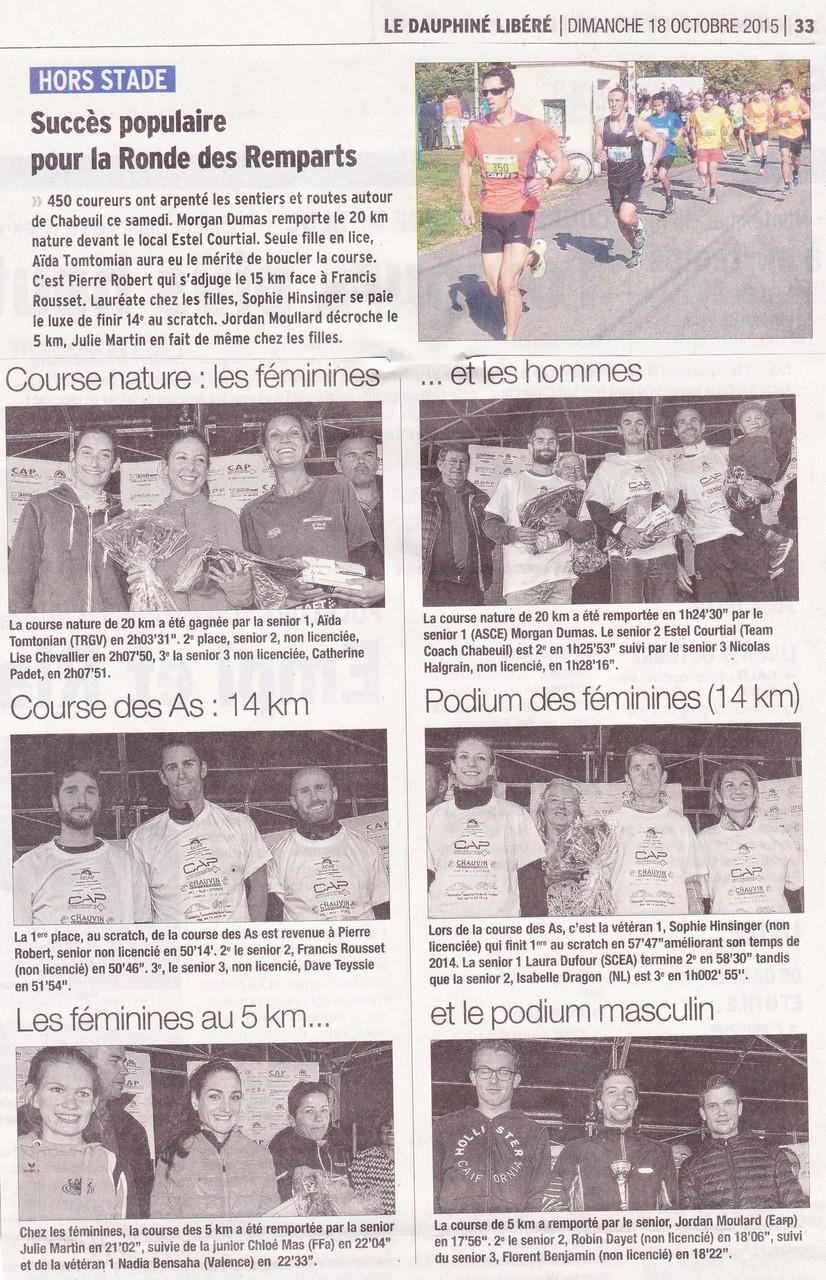 Chabeuil-18 10-2015 OMS-La Foulée des Remparts