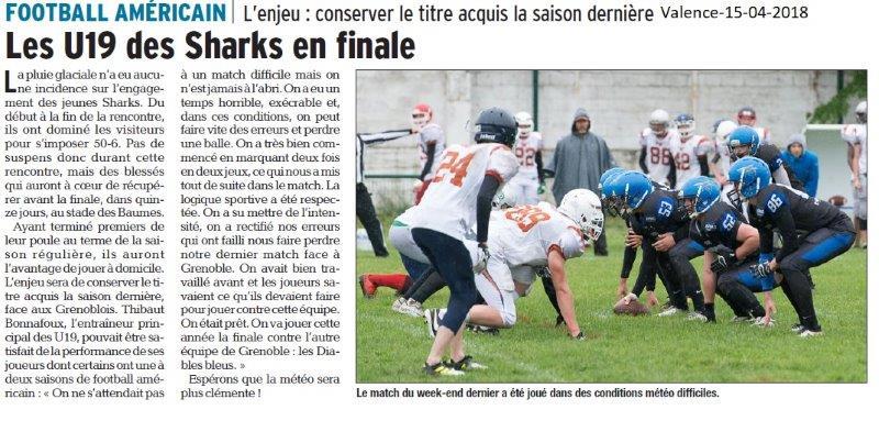 Dauphiné Libéré du 15-05-2018- Football Américain Valence