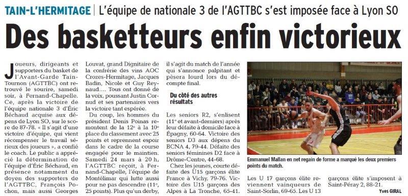Dauphiné Libéré du 20-03-2018-UGAP gym artistique- Bourg de Péage