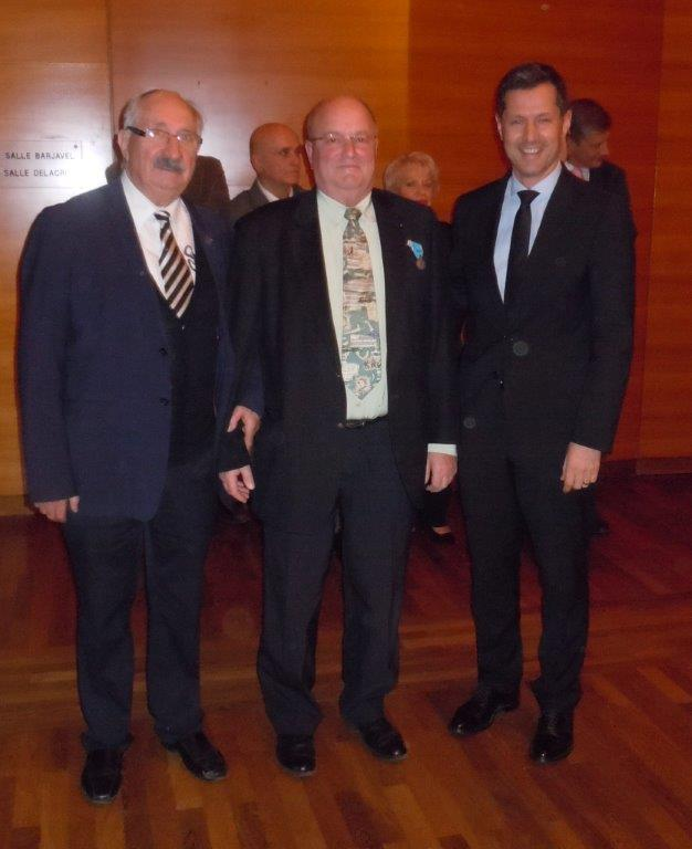 JM.ABATTU, Robert DUPONT Médaille d'argent et N.DARAGON