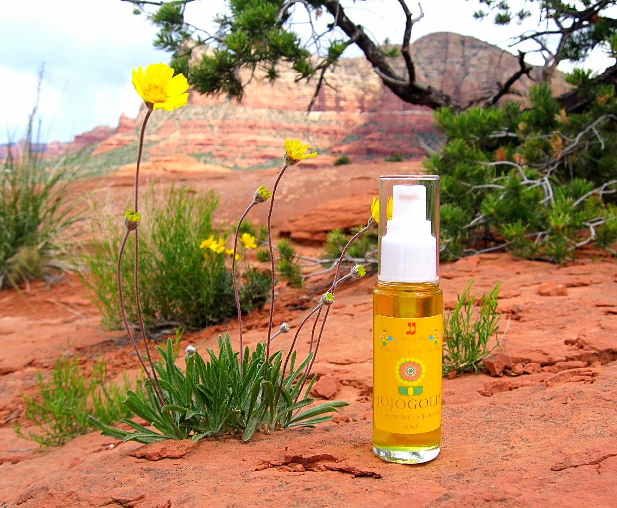"❦ ARIZONA JOJOGOLD  ""Mystic dew"" - a golden Oasis for your skin."