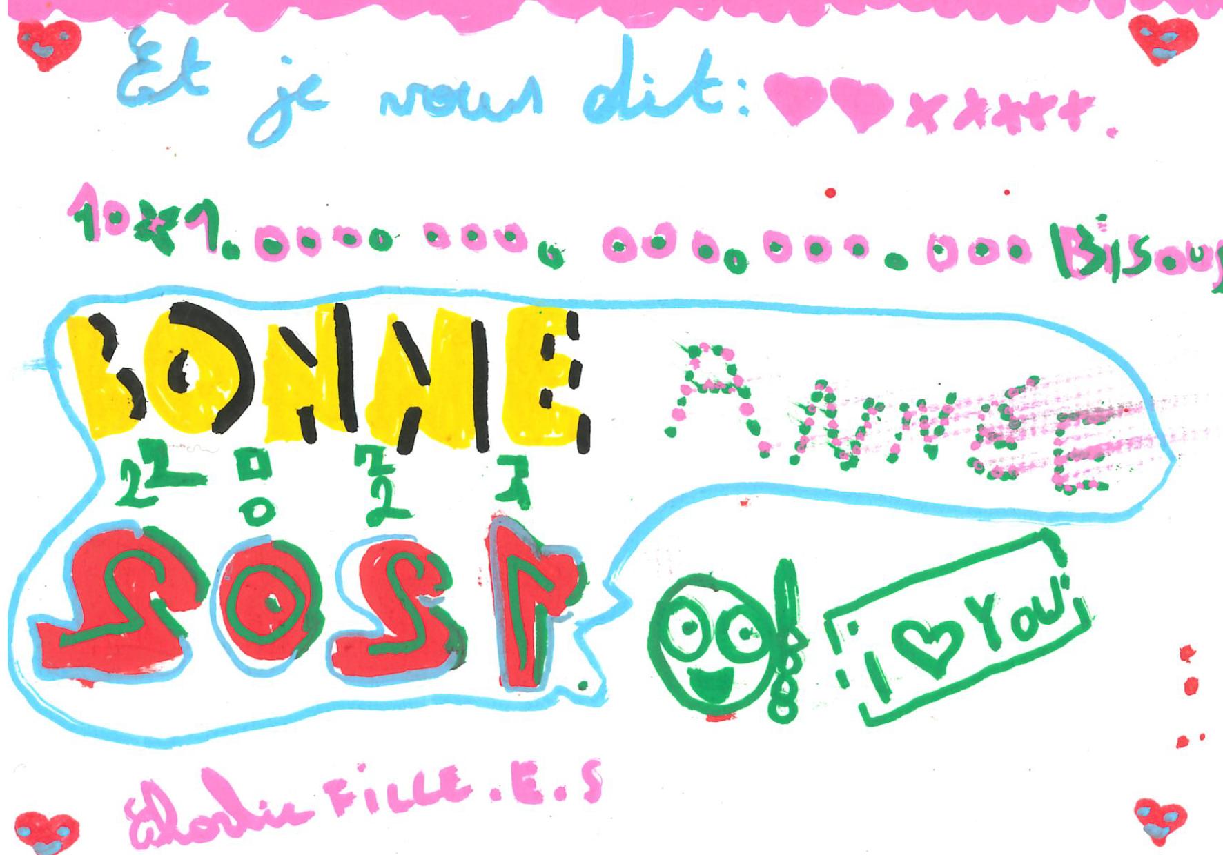 Un mot doux coloré de Charlie