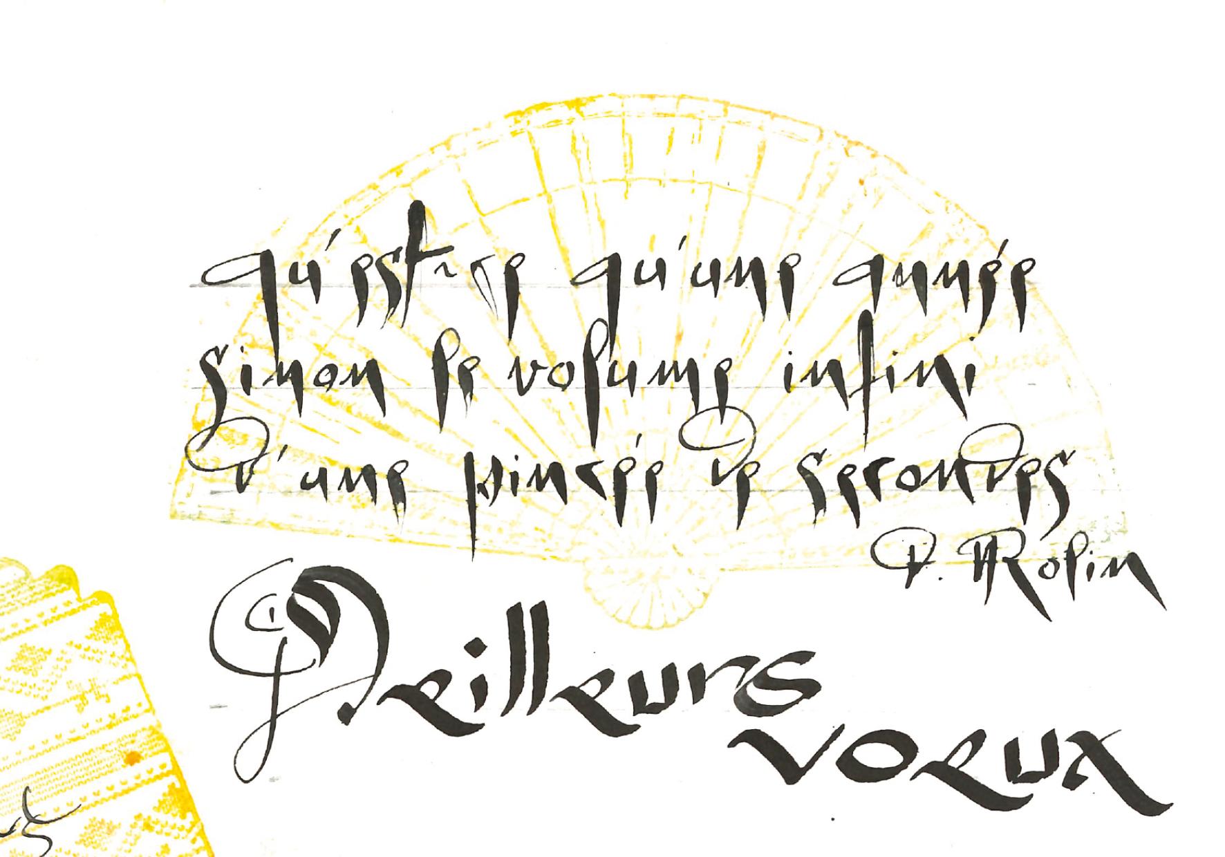 Une pensée calligraphiée de Vincianne Gouttebarge