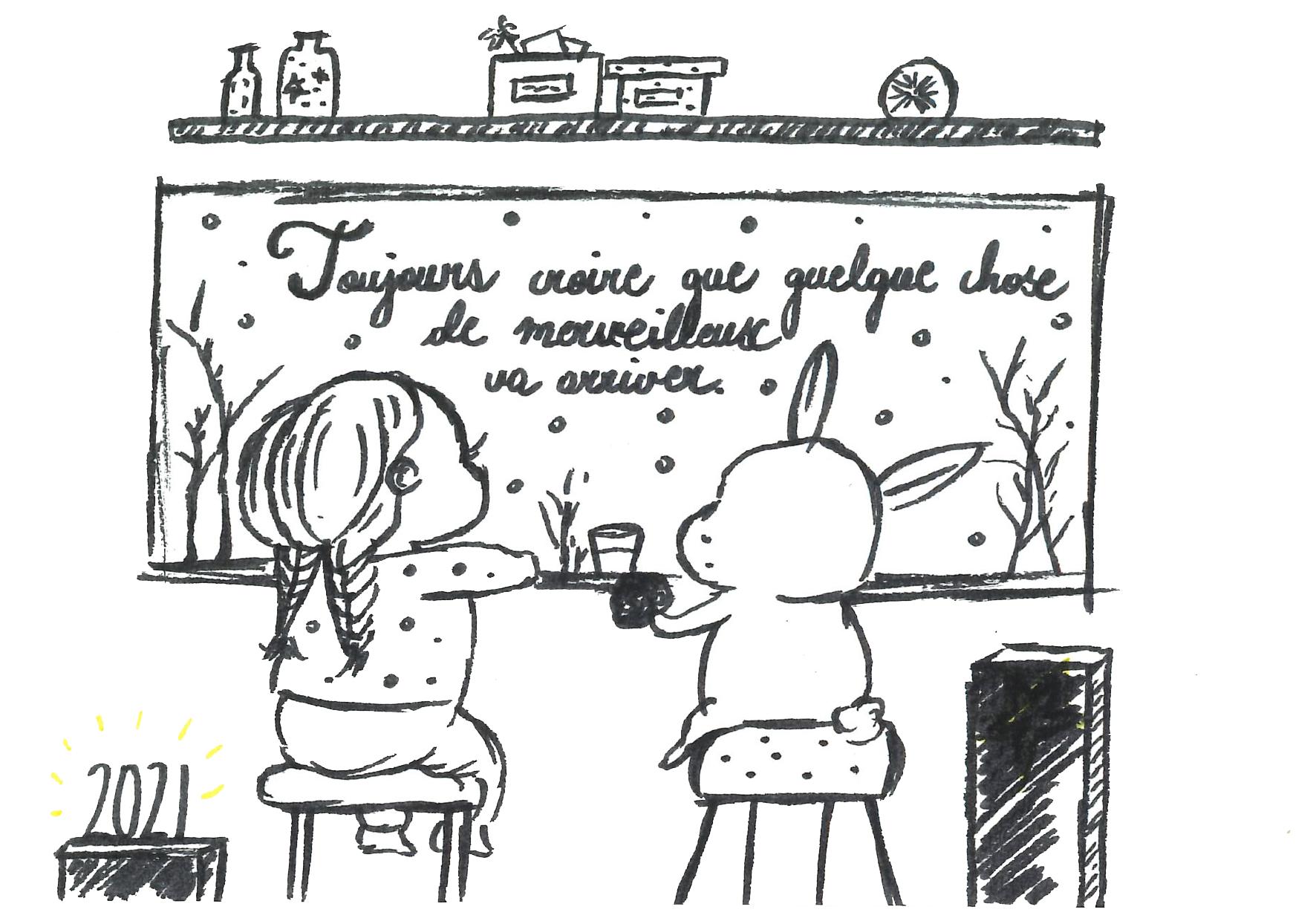 Un dessin de Marie Liessens