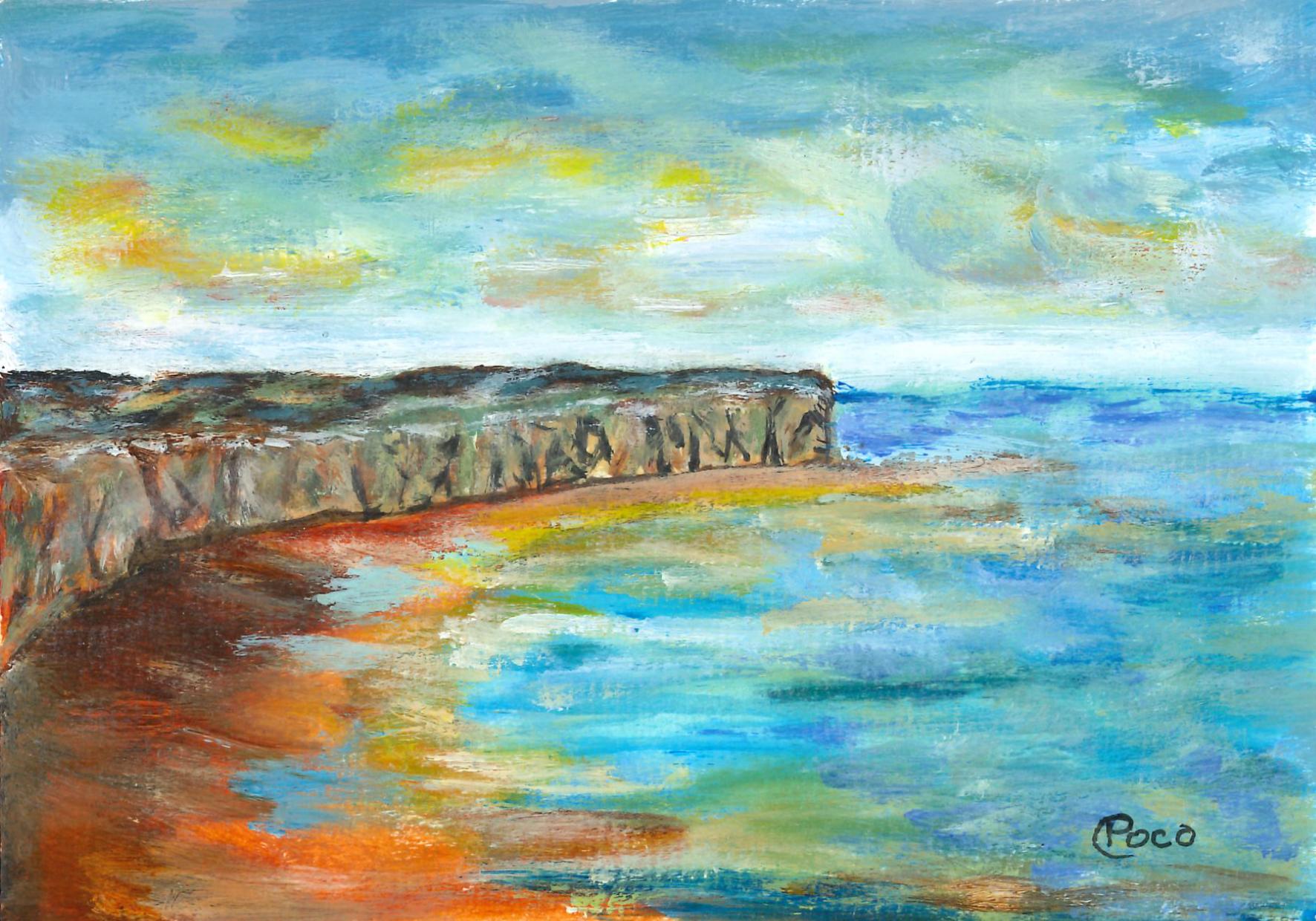 Une peinture acrylique de Calogero Pocoraba