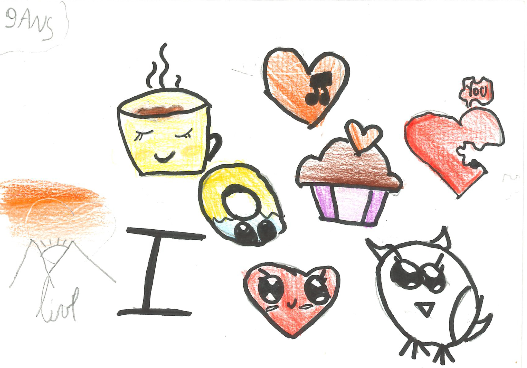 Un dessin d'un enfant de 9 ans