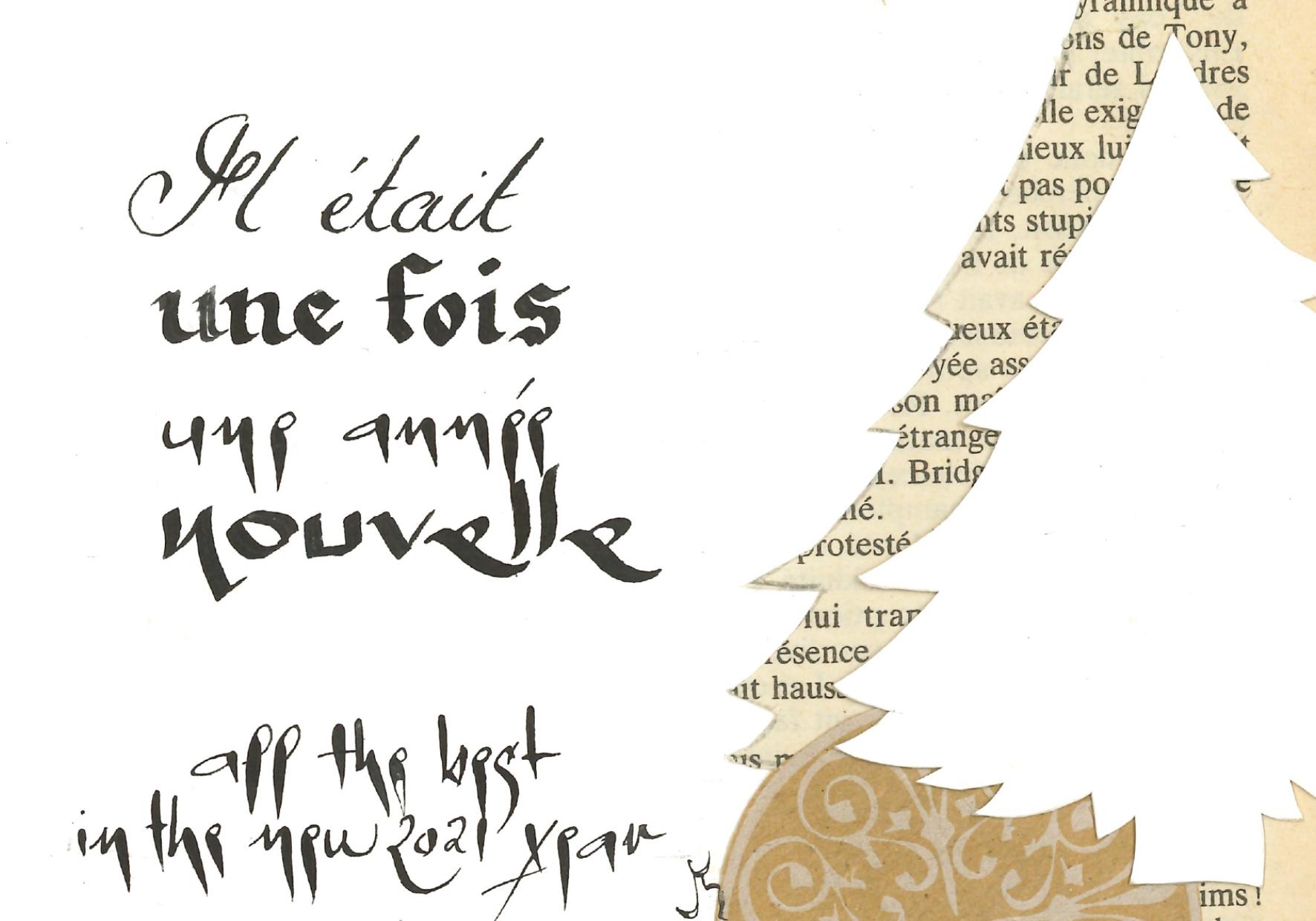 Un collage calligraphié de Vincianne Gouttebarge