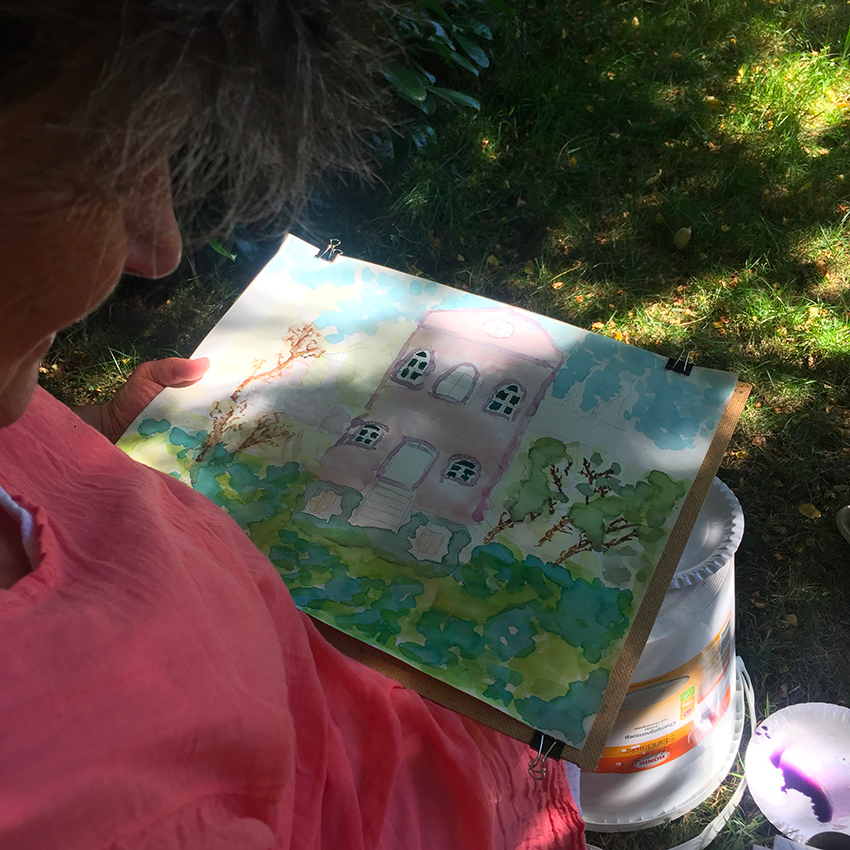 Après-midi aquarelle dans le parc de Walcourt
