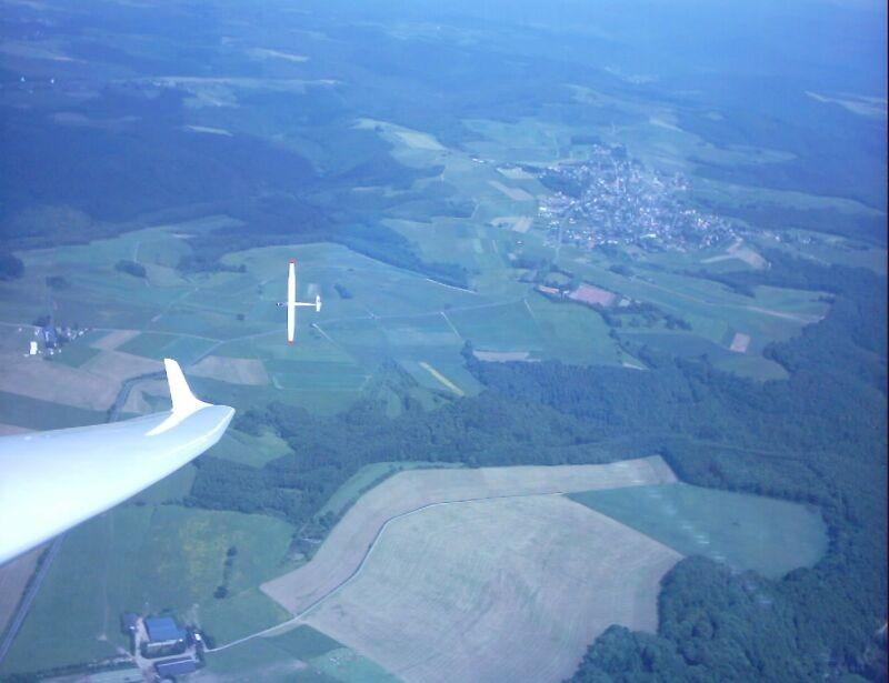 Thermikkurbeln über der Eifel