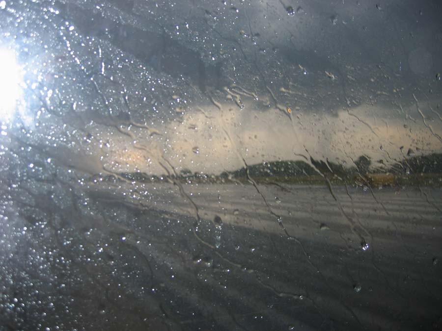 Das Wetter bei der Anreise