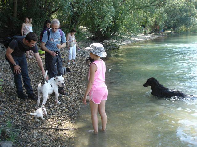 Pause détente au bord de l'eau et baignades pour ceux qui veulent