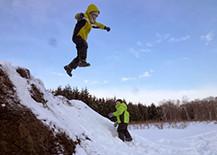 冬の体験プログラム 思いっきり雪遊び