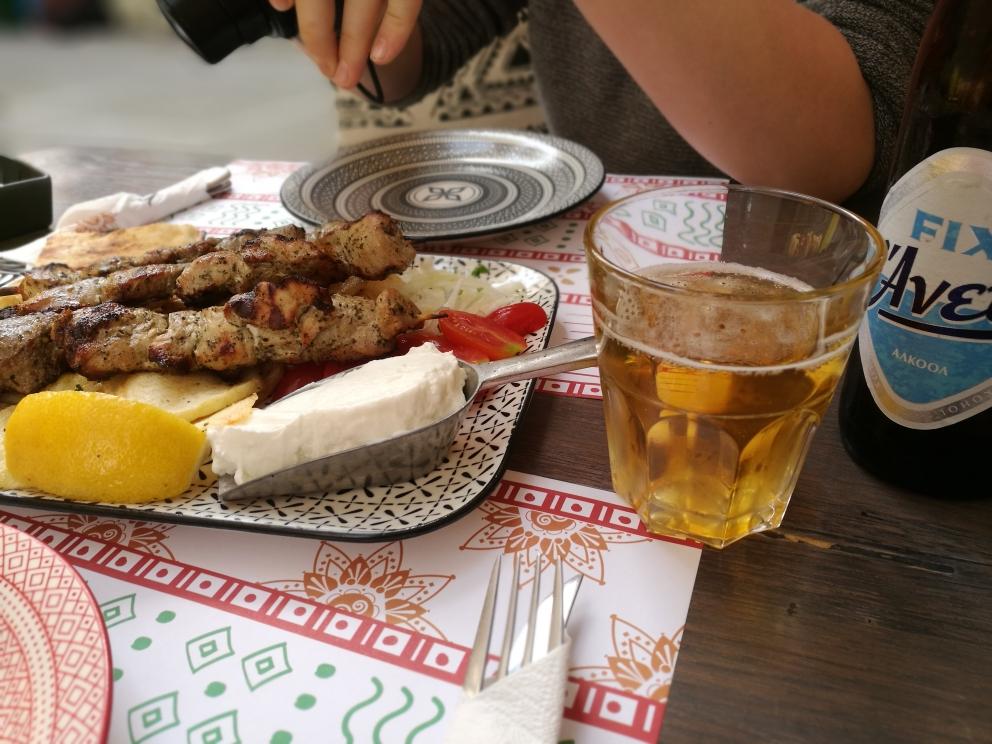Erstes Mittagessen in Rethymnon