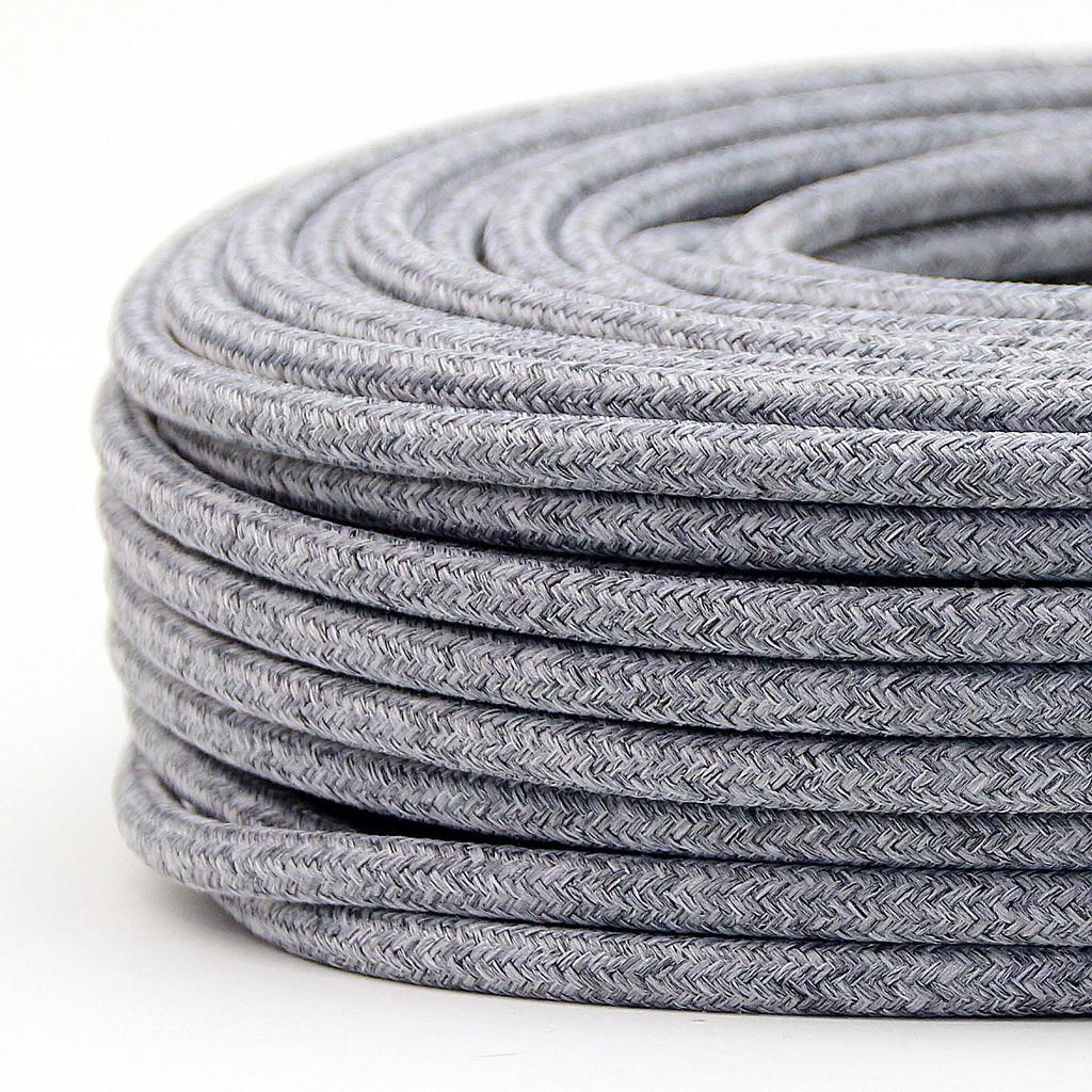 textilkabel 2 adrig rund textilkabel und leuchtmittel online shop. Black Bedroom Furniture Sets. Home Design Ideas