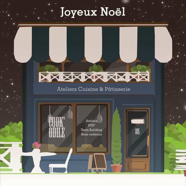 JoyeuxNoel -MerryChristmas-BonsCadeaux-DernièreMinute-CookOdile-Ateliers-Workshop-CoursDePatisserie-PastryCourse-CoursDeCuisine-CookingCourse-Patisserie-Pastry-France-Fontainebleau