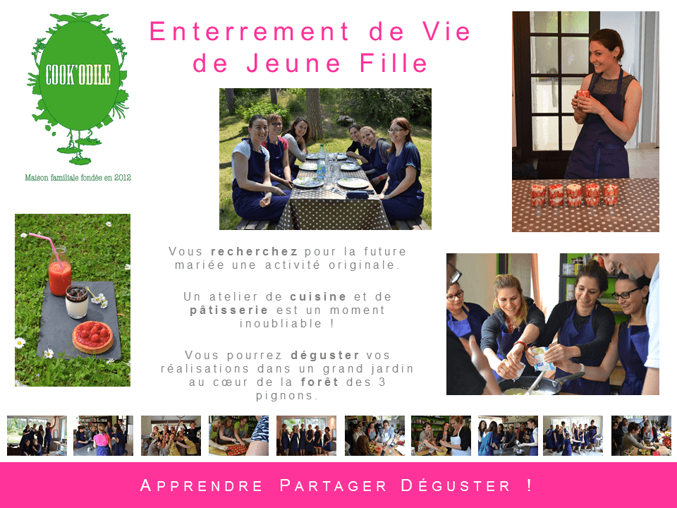 Cours de Cuisine et de Patisserie Cook'Odile - Enterrement de Vie de Jeune Fille (#EVJF)