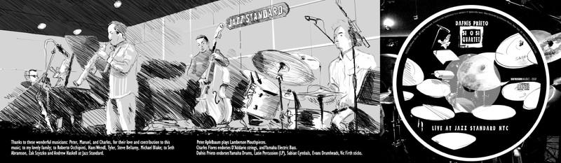 Interior Digipack Si o Si Quartet Dafnis Prieto ilustración