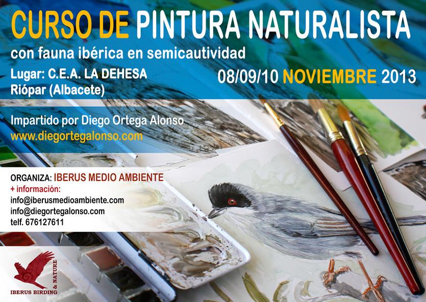 Curso de Pintura Naturalista con Iberus Medio Ambiente- CEA La Dehesa