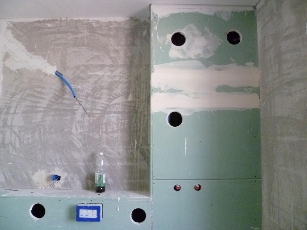 WC Vorbau inklusive Verkleidung und Bohrungen