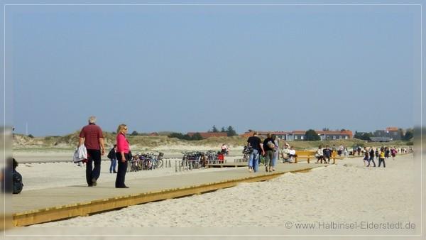 Steg zum Ordinger Strand