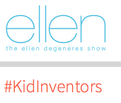 Click on the picture to watch videos of real kid inventors on the Ellen Show.
