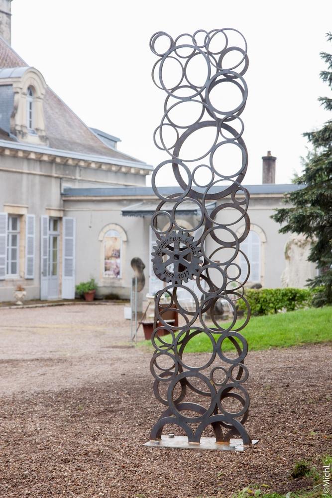 Sculpture commémorative réalisée pour le Rotary (3 x 0,75 x 0,1 m) pour 250 kg /  © Michel LAURENT (MichL)