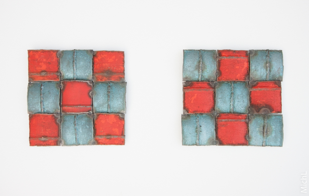 Éclats / Acier peint (30 x 30 cm)  © Michel LAURENT (MichL)
