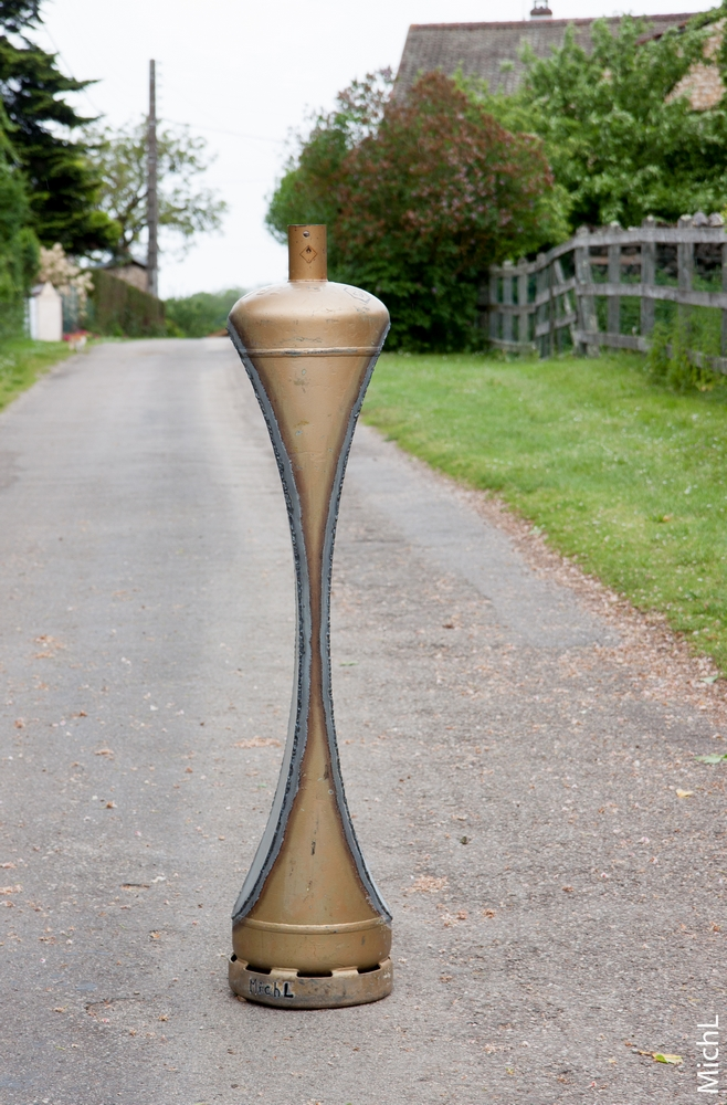 Plein Gaz ! Slim    © Michel LAURENT  Steel Sculpture