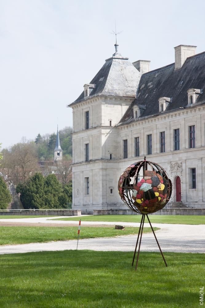 Pendant l'exposition au château d'Ancy-le-Franc  © Michel LAURENT / MichL