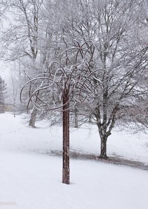 Palabra sous la neige, hiver 2014 à Morteau    © Michel LAURENT (MichL)