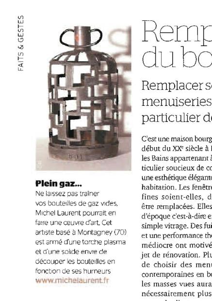 Sculpture sur bouteille de gaz © Michel LAURENT (MichL)