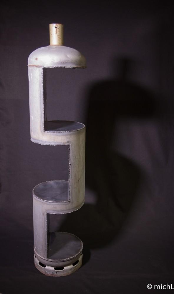 Sans nom / Acier /   © Michel LAURENT / hauteur 140 cm