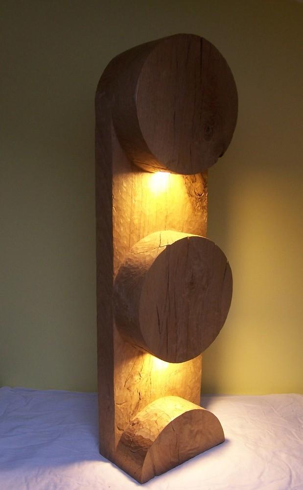 Lampe Borne / Bois massif /  © Michel LAURENT