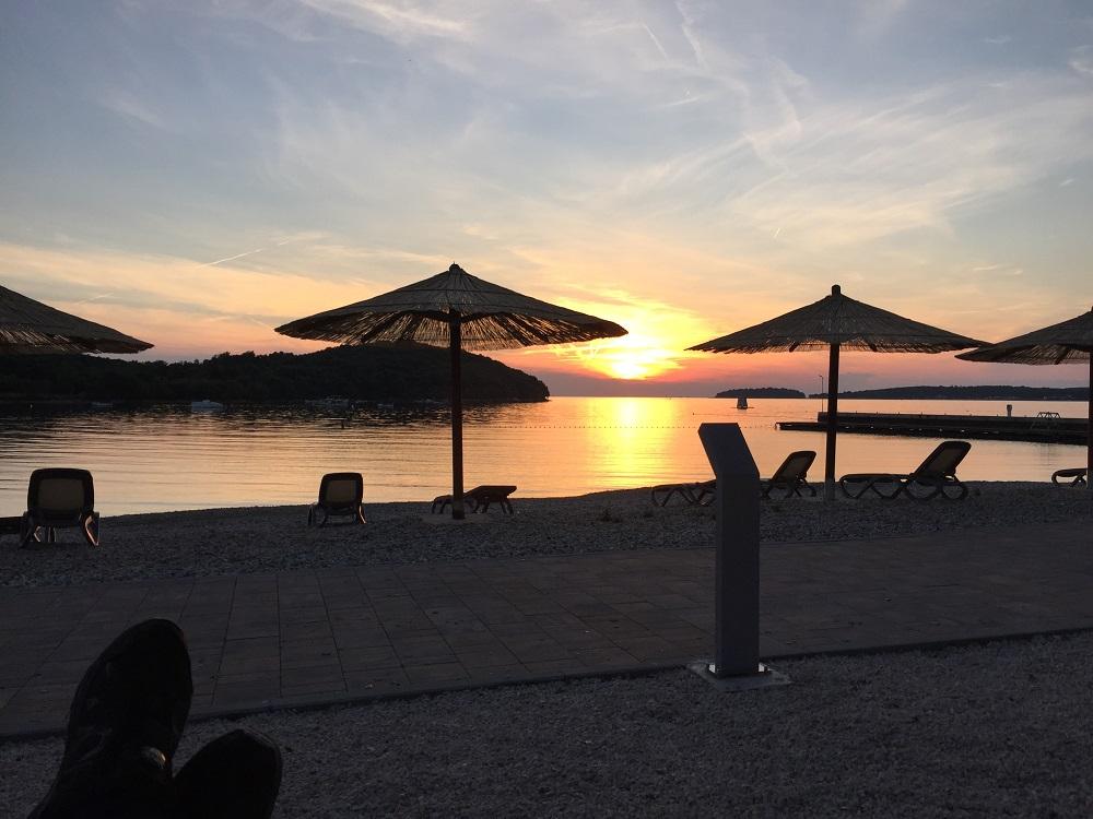 Abendlicher Sonnenuntergang Istrien Nähe Rovinj!