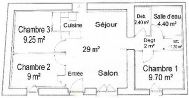"""Plan du gîte """"Pressoir"""""""