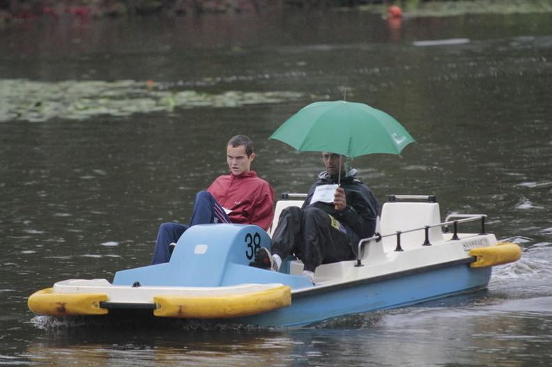 Eddy et Thibault sous la pluie