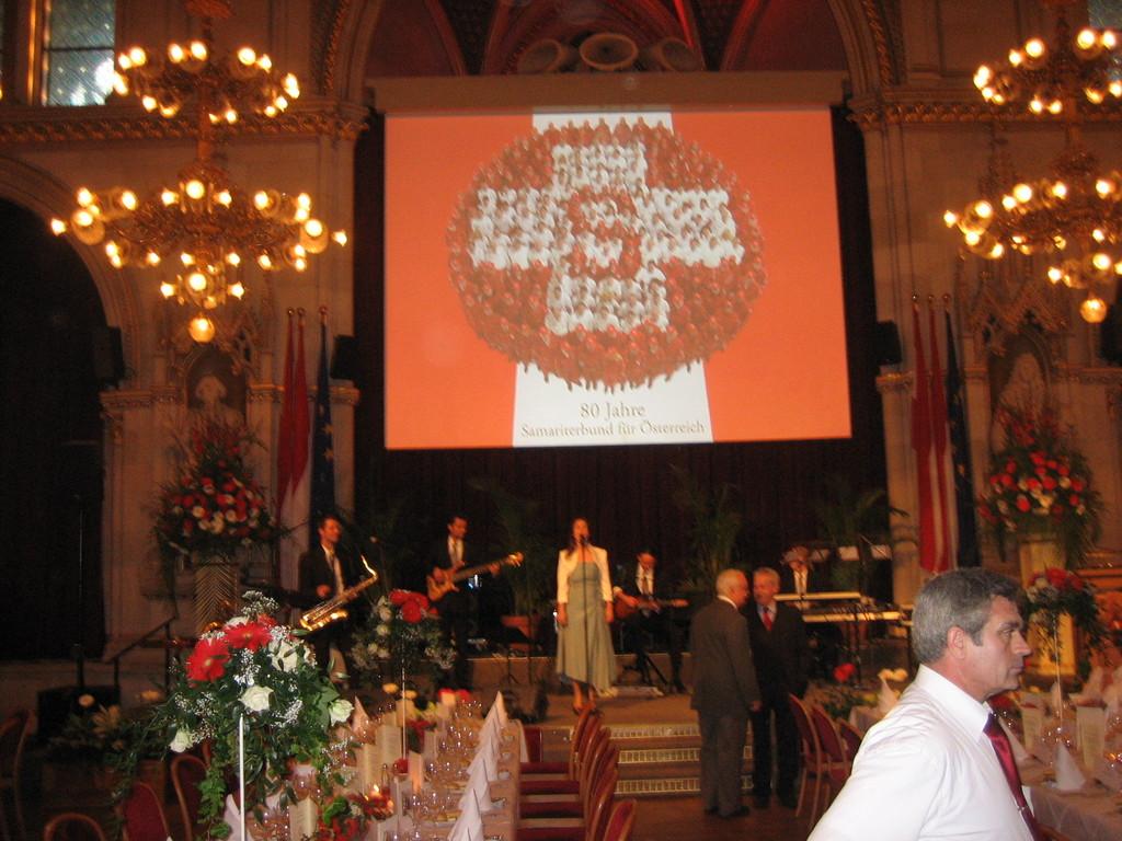 das Ambiente im Wiener Rathaus