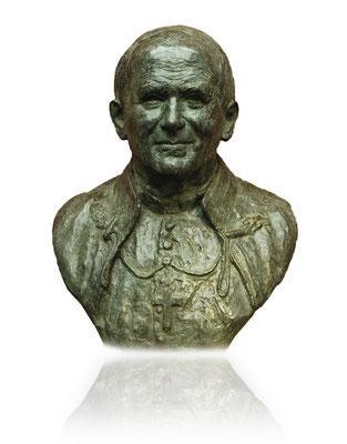 Buste en bronze de Jean-Paul II, Basilique Saint-Sernin à Toulouse, sculpteur Langloÿs