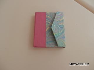 note book Atelier Découverte du cartonnage 12 juillet 2019