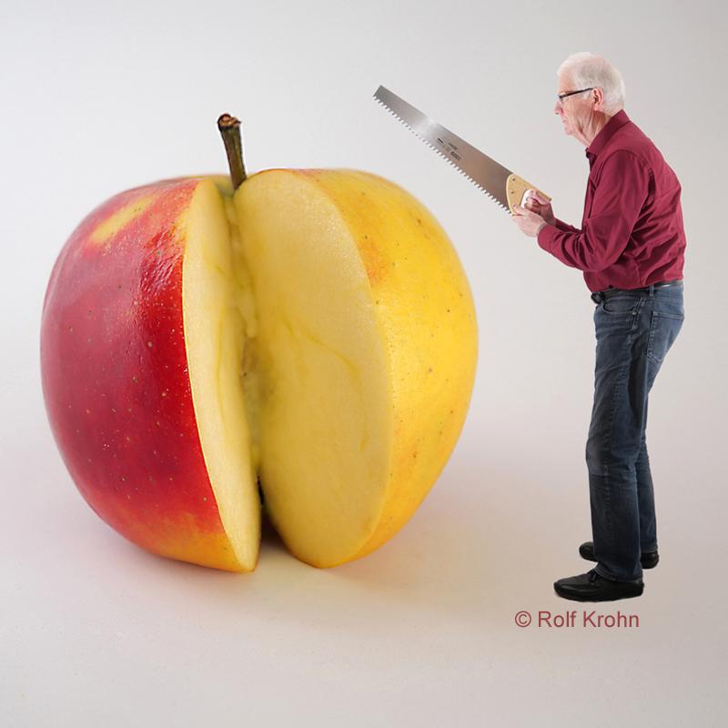 Apfel in Scheiben schneiden